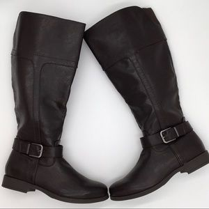 NEW CROFT & BARROW Knee High Boots Brown Size7.5M